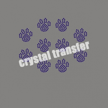 Rhinestone Paw Prints Wholesale Transfers