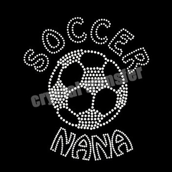 Soccer NANA Crystal Transfers Bling Iron-on Embellishment