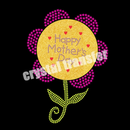 Happy Mother's Day Rhinestone Heat Transfers New Design