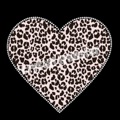 Sequin Transfers Leopard Grain Vinyl Heat Transfers New Design