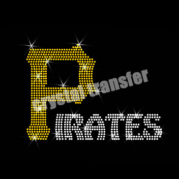 Pirates Crystal Transfer Heat Press Hotsale For Sports Clothing