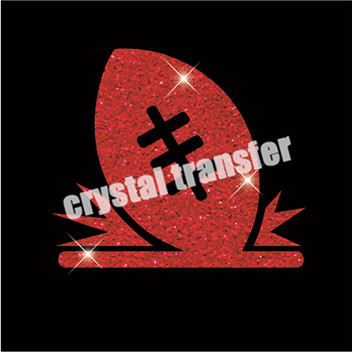 Glitter Soccer Transfers New Design Iron on Wholesale For Clothing