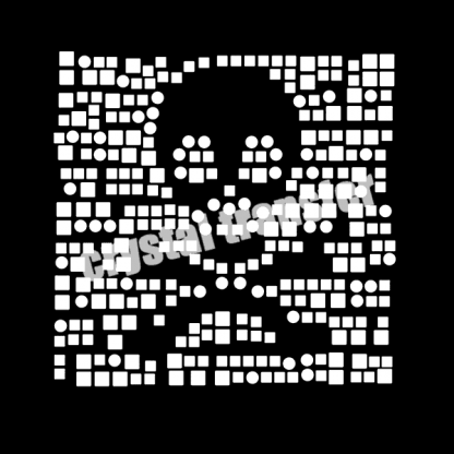 Skull Brand New Design New Material Rhinestud Heat Transfers for Fashion
