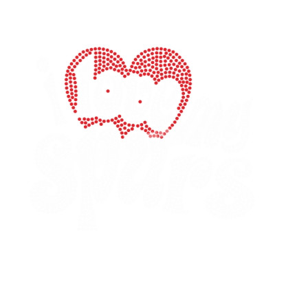 I Love My Spurs Hot Fix Rhinestone Iron On Logos Transfer