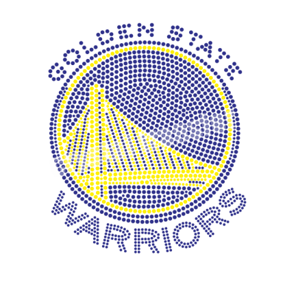 Sports Basketball Rhinestone Transfer for Golden State Warriors