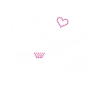 Bride to Be Hot Fix Rhinestone Wholesale Transfer T-shirt