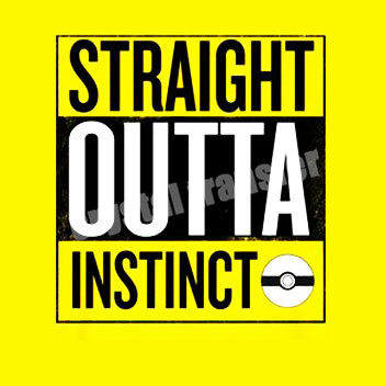 straight outta instinct sublimation printing silk screen pokermon go t-shirts