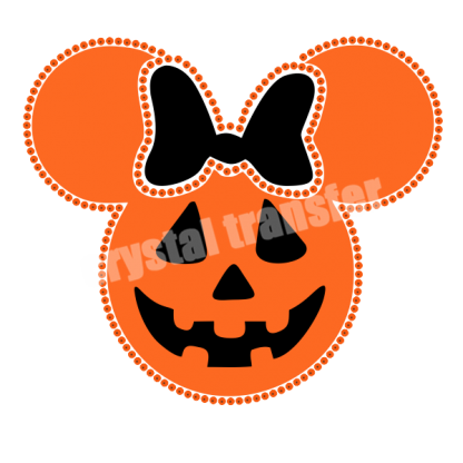 Mickey Head Halloween Style Wholesale Sequin and Rhinestone iron On Transfers