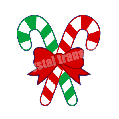 Candy Cane Christmas Heat Vinyl Printing Transfers