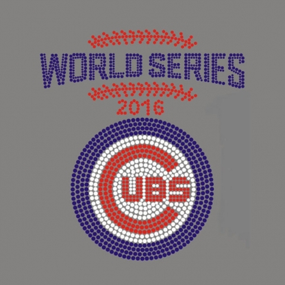 iron on rhinestone transfer for Chicago Cubs World Series 2016