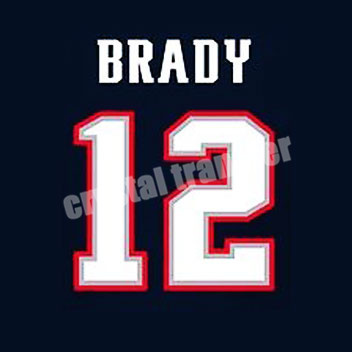 Brady 12 Football Goat custom heat transfers offset