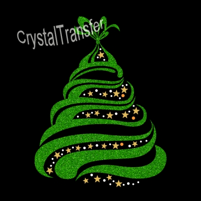 Glitter Heat Transfers design Christmas Trees  Pattern Wholesale
