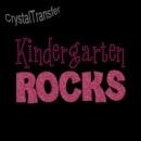 Custom Pink Glitter Kindergarten Rocks Wholesale Rhinestone Heat Transfers