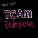 Custom Rhinestone Team Kindergarten  Wholesale Heat Transfers